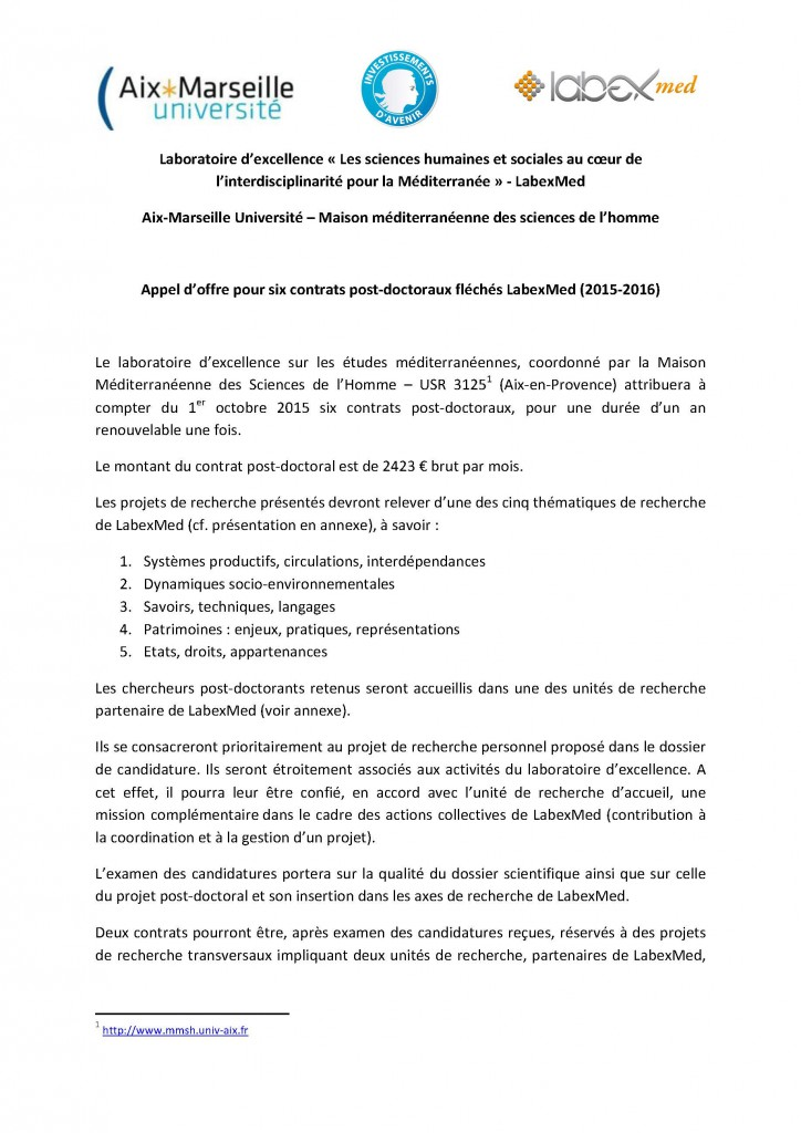 Appel_contrats_post-doctoraux_LabexMed_2015_Page_01