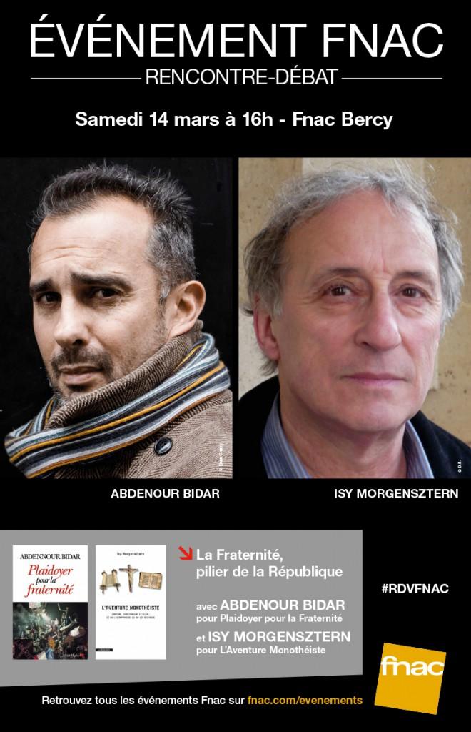 Rencontre - débat à la Fnac Bercy le 14 mars