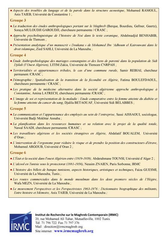Programme Hammamet 2-6 IRMC -CRASC04